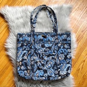 Vera Bradley Retired Windsor Navy Large Tote